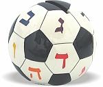 """קופת צדקה קרמיקה כדורגל 6.5 ס""""מ"""