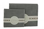 """כיסוי לטלית תופילין מהודר  לנטוני בגודל 28x35 ס""""מ דגם """"עיטור טלית אפור"""