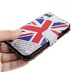 נרתיק דמוי עור אמיתי לאייפון 5 - מעוצב - דגל בריטניה