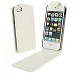 כיסוי דמוי עור אמיתי לאייפון 5 - לבן