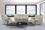 ספה / מערכת ישיבה ריקליינר מעור 3+2 דגם G-05, בית המעצבים