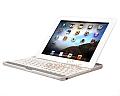 Aluminium Bluetooth Wireless Keyboard Case For New iPad 3 2 4rd White Keyboard