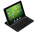 Aluminum Shell Bluetooth Keyboard Snap On Case Stand for iPad mini White