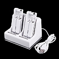 Wii Remote Controller Charger + 2 x 2800mAh Battery