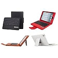 כיסוי עם מקלדת לאייפד Leather Case + wireless Bluetooth Keyboard for iPad MINI