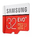 כרטיס זכרון  SAMSUNG EVO+ 32GB Class 10 MICRO SD  Memory Card Adapter  SDHC