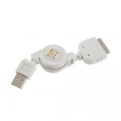 כבל USB IPHONE נגלל טעינה ו עברת נתונים