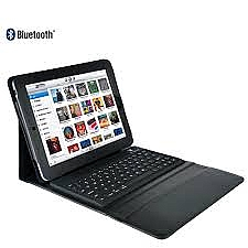 כיסוי עם מקלדת לאייפד Leather Case + wireless Bluetooth Keyboard for iPad 2 3 4