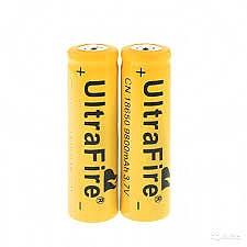 סוללה נטענות 2יח 18650 9800MAH ULTRAFIRE