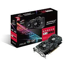 כרטיס מסך ASUS ROG-STRIX-RX560-O4G-GAMING DVI HDMI DP 4G D5