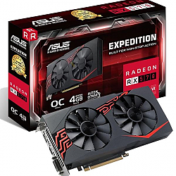כרטיס מסך ASUS EXPEDITION RX570-O4G DVI HDMI DP 4G D5