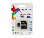 כרטיס זכרון  A-DATA class 10 Micro SD SDHC Memory Card TF 64GB