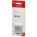 סוללה מקורית ל מצלמה Canon NB-5L NB5L NB 5L  1120mAh