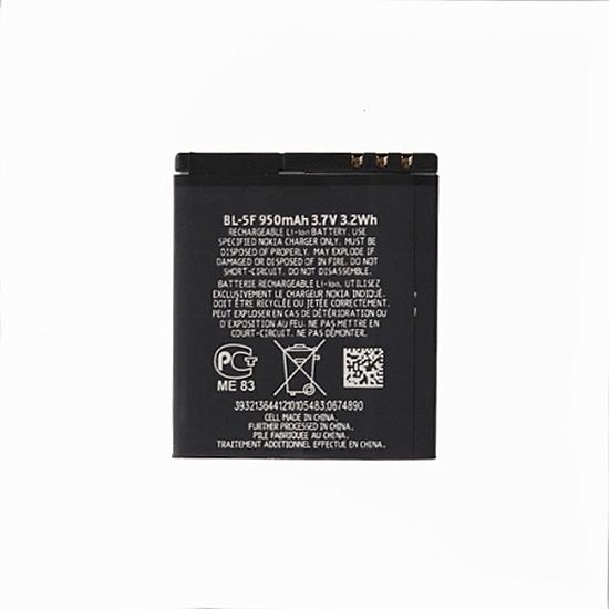 סוללה תואמת ל טלפון סלולרי Nokia 6290 6710 E65 6210 N78 N96 N95 N93i BL-5F 950MAH - 2