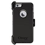 כיסוי לאייפון 6 שחור OtterBox Defender