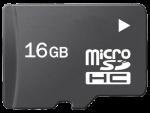 כרטיס זיכרון מסוג Micro SD בנפח 16 ג'יגה