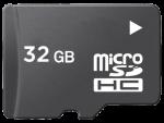 כרטיס זיכרון מסוג Micro SD בנפח 32 ג'יגה