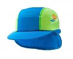 כובע מצחיה מבד מסנן קרינה ירוק/כחול