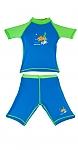 בגד ים בנים מבד מסנן קרינה כחול/ירוק