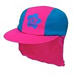 כובע בנות מבד מסנן קרינה כחול/ורוד