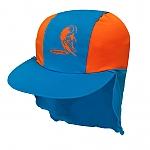 כובע בנים מבד מסנן קרינה כתום/כחול