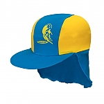 כובע בנים מבד מסנן קרינה צהוב/כחול