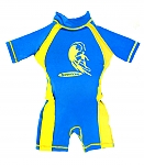אוברול צף דגם כחול/צהוב
