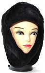 שפקה נשים שחור (כובע אוזניים) מרשים ויוקרתי פרווה איכותית