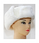 שפקה נשים לבן (כובע אוזניים) מרשים ויוקרתי פרווה איכותית