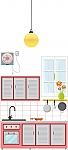 עיצוב סביבה חינוכית בגן ילדים, פינת מטבח צבע ורוד