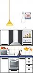 עיצוב סביבה חינוכית בגן ילדים, פינת מטבח צבע לבן
