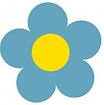 """פרחי אלומניום לקישוט גדר הגן - פרח קוטר 15 ס""""מ"""