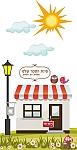 עיצוב סביבה חינוכית בגן ילדים, פינת ספר, חנות ספרים גג אדום