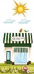 עיצוב סביבה חינוכית בגן ילדים, פינת ספר, חנות ספרים גג ירוק