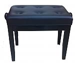 כיסא מתכוונן לפסנתר דמוי עור שחור