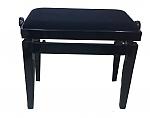 כיסא מתכוונן לפסנתר שחור קטיפה