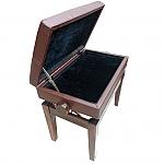 כיסא מתכוונן עם איחסון תווים דמוי עור חום