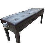 כיסא מתכוונן לפסנתר  דמוי עור שחור כפול