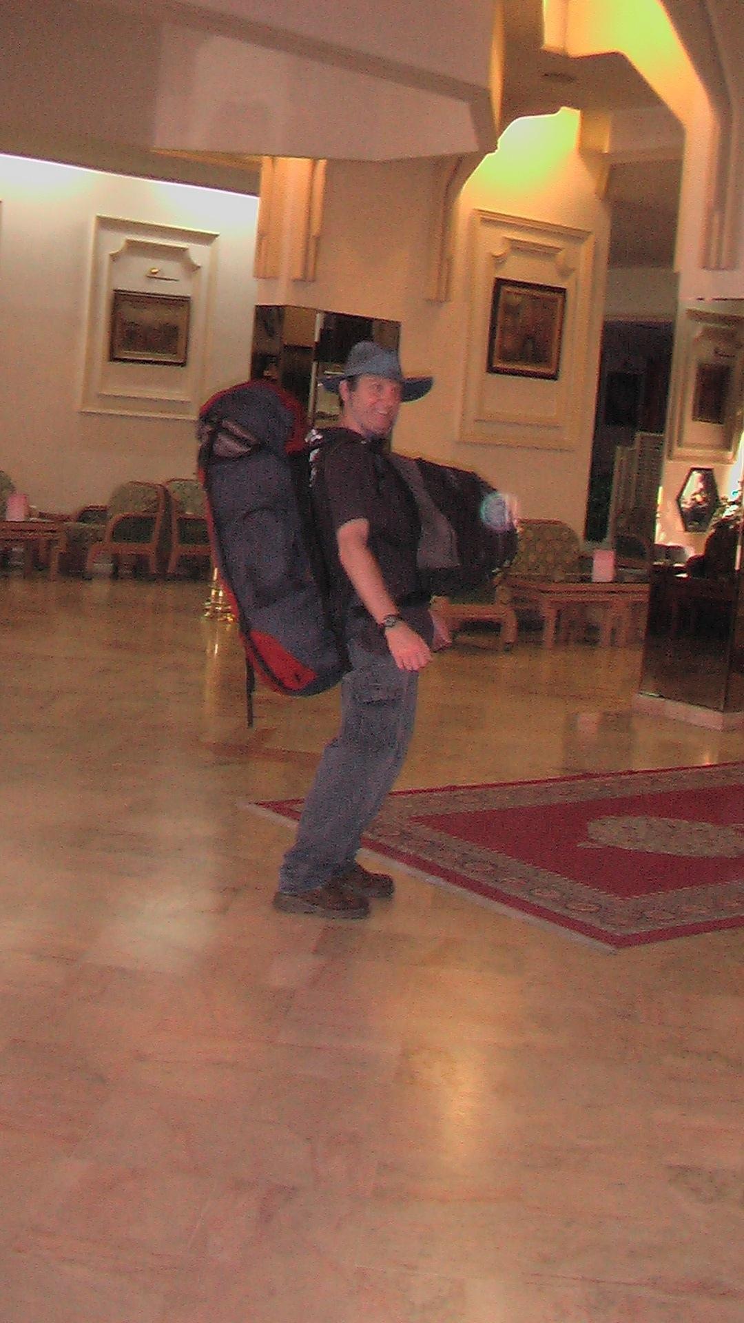 תרמילאי במלון בקזבלנקה -- מרוקו