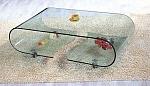 שולחן סלוני יציקת זכוכית יוקרתי דגם A081 אייטם