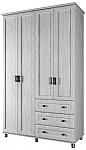 מאלגה - ארון בגדים 4 דלתות ומגרות על במה