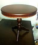 שולחן קפה עגול מעץ מלא