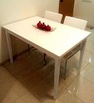 שולחן פינת אוכל יניב פיזה לבן