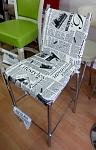 כיסא בר ממתכת נוגה