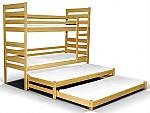 מיטת מרובעת עץ מלא אלמו