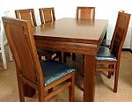 פינת אוכל אלונית כולל 6 כסאות