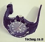שעון סיליקון/גומי אופנתי - שחור
