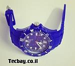 שעון סיליקון/גומי אופנתי - כחול