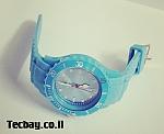 שעון סיליקון/גומי אופנתי - תכלת