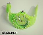 שעון סיליקון/גומי אופנתי - ירוק
